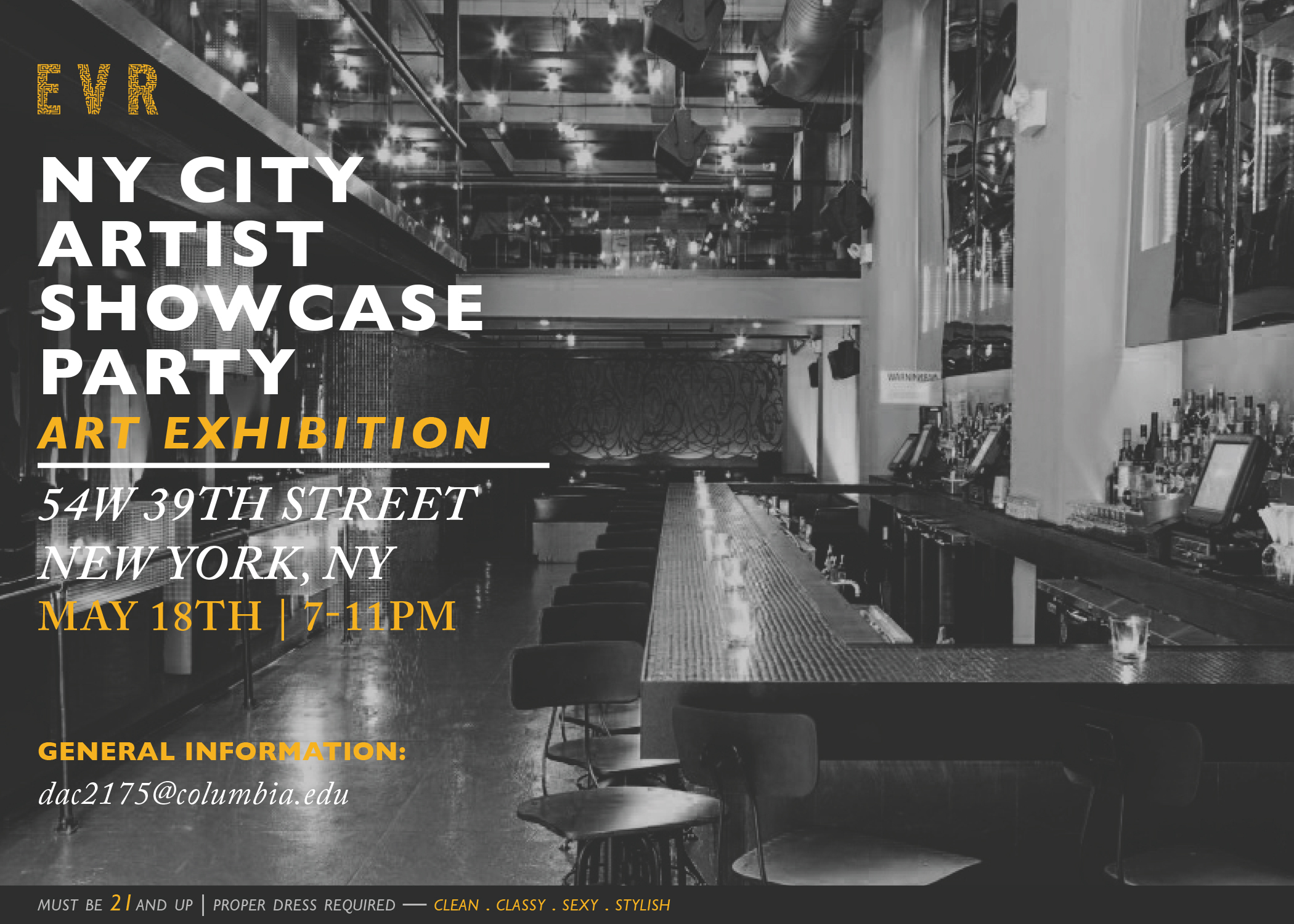 NYC Artists Showcase on5/18